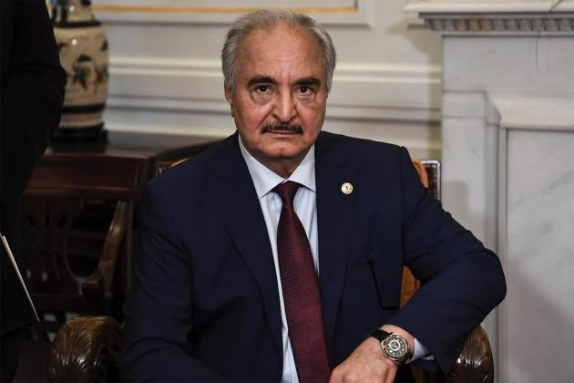 The Libyan currency seized last November in Malta is understood to have been destined for Khalifa Haftar. Photo: AFP