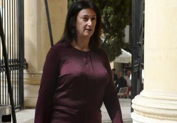 Daphne Caruana Galizia arrives in court to testify in magisterial inquiry