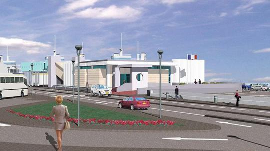 An impression of how the terminal will look on completion.