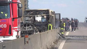 Italy police rescue 51 children as driver torches school bus