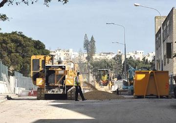 Drivers are being urged to observe the speed limit and respect the workers on site at the Marsa flyover project.