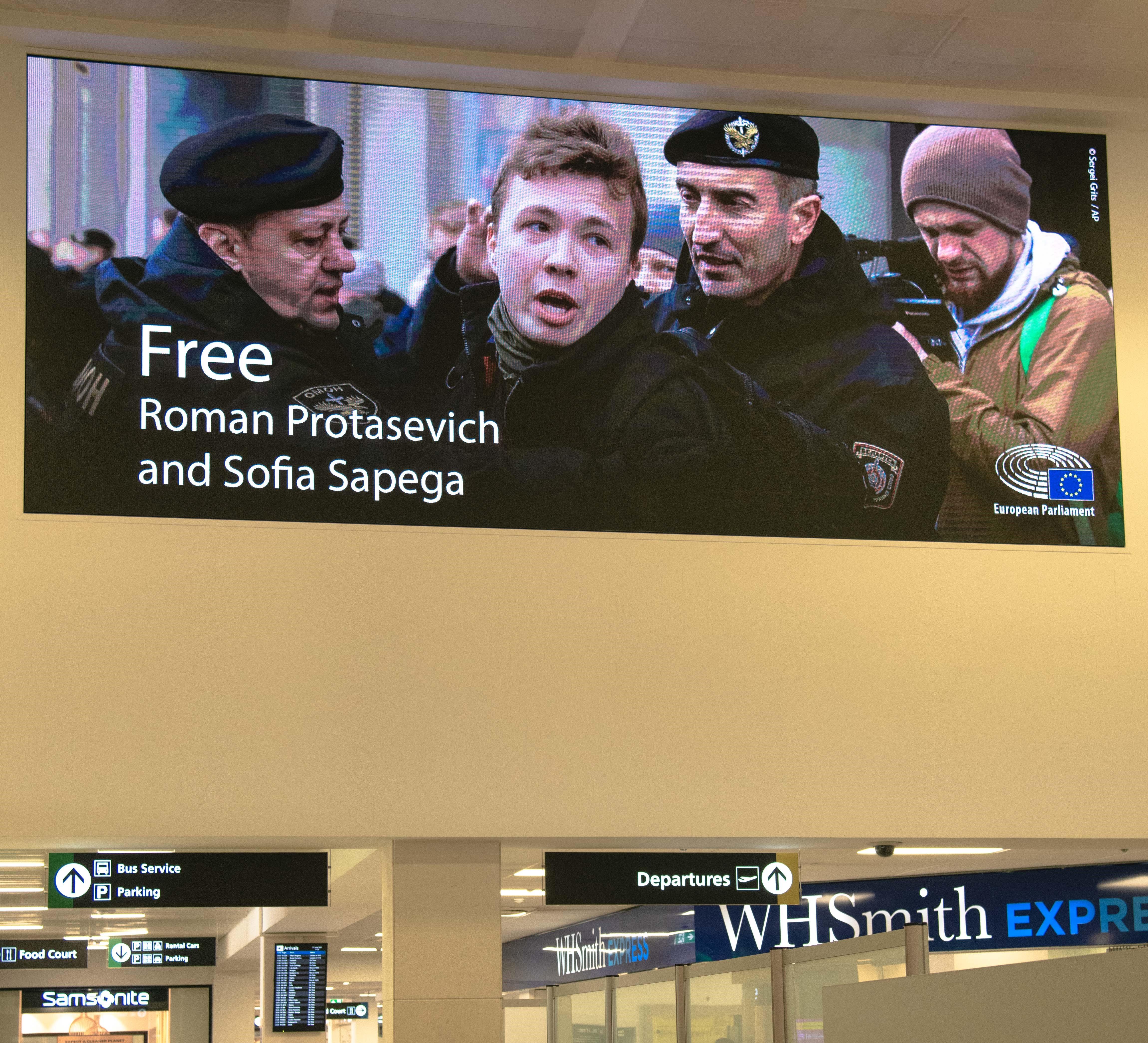 Malta International Airport joins EU calls to free Belarus journalist