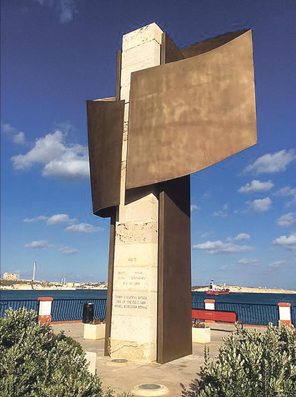 Malta Summit Monument in Birżebbuġa.