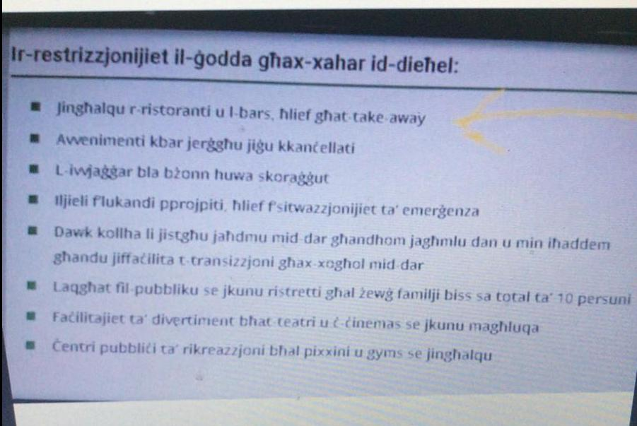 Robert Abela said he did not know where this list of supposed new measures being circulated on WhatsApp had come from and confirmed there would be no lockdown.
