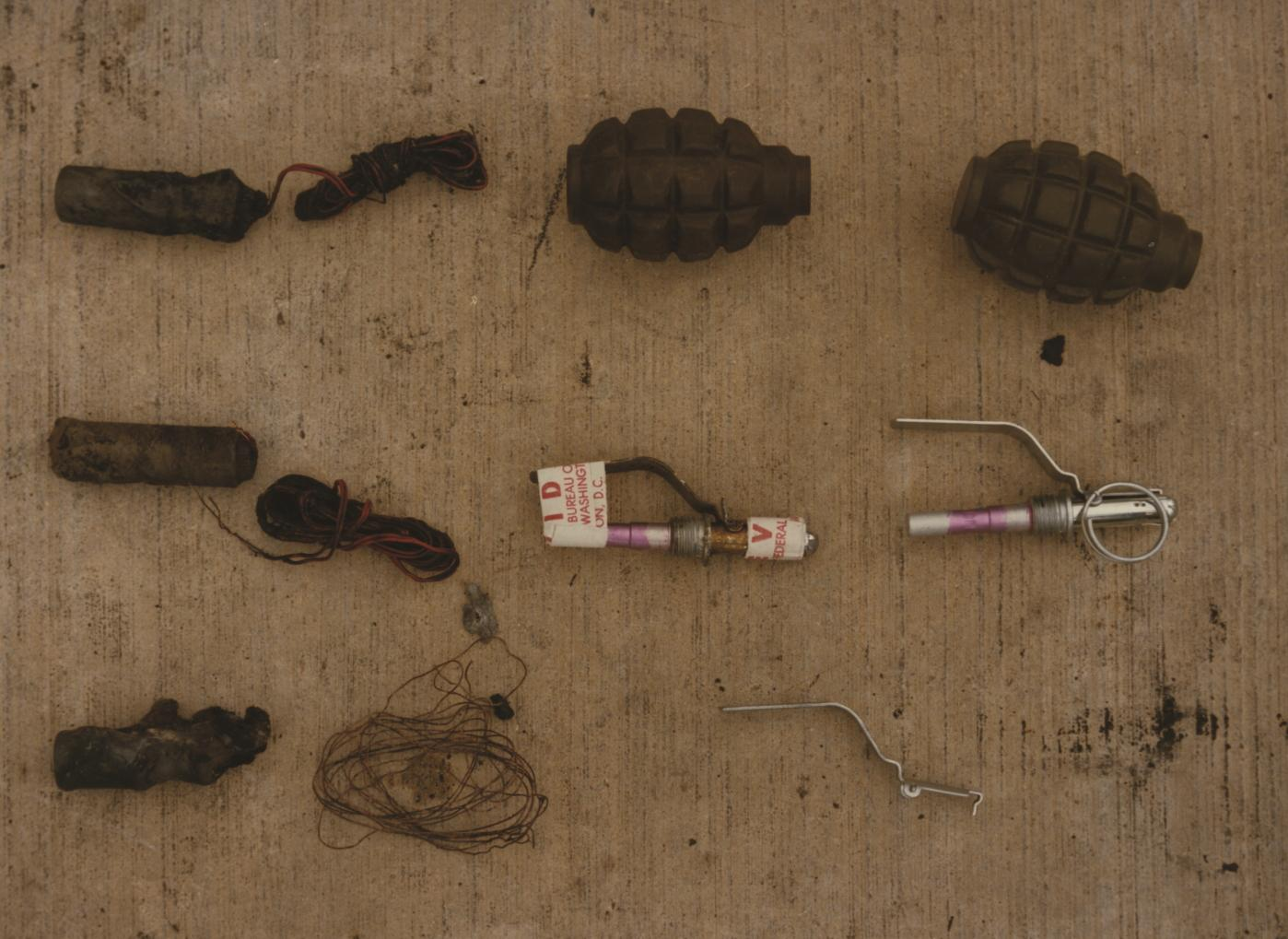 Some of the weapons found on board.
