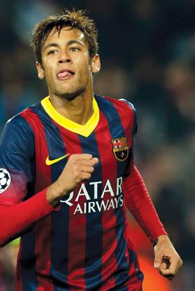 Neymar... a costly signing for Barcelona.