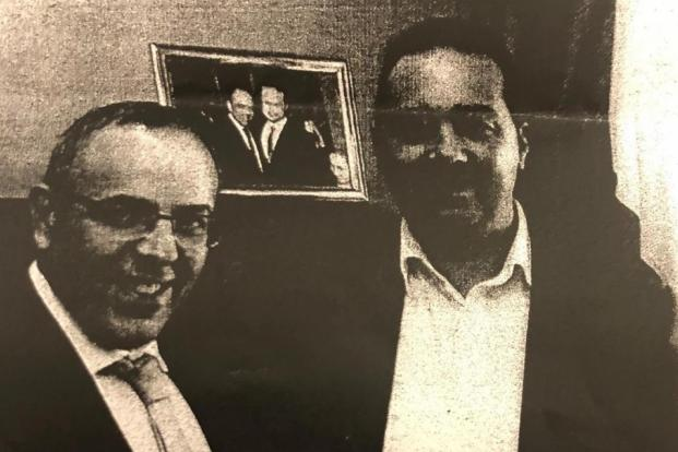 Keith Schembri with Melvin Theuma.