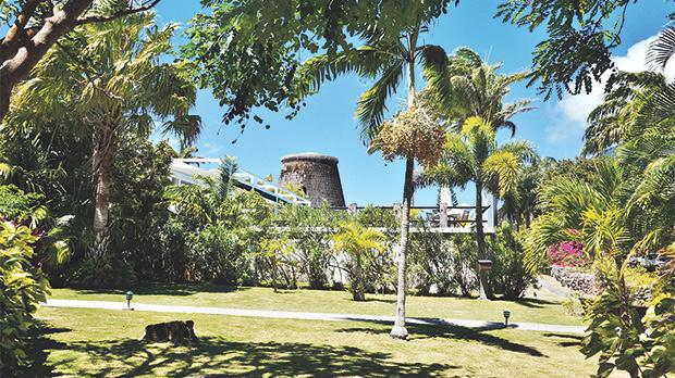 The Montpelier Plantation Inn is built on a former sugar plantation estate in the Caribbean island of Nevis.