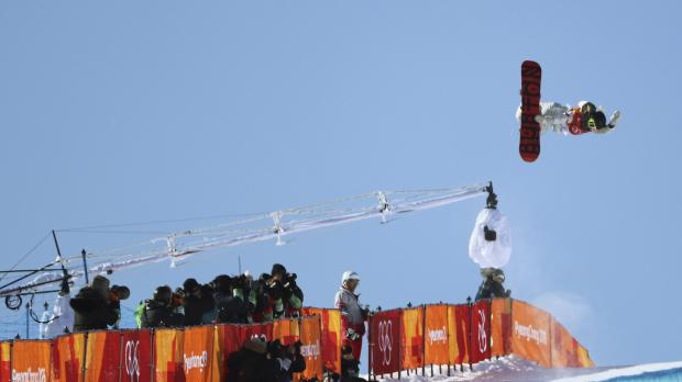 Chloe Kim of the US competes.