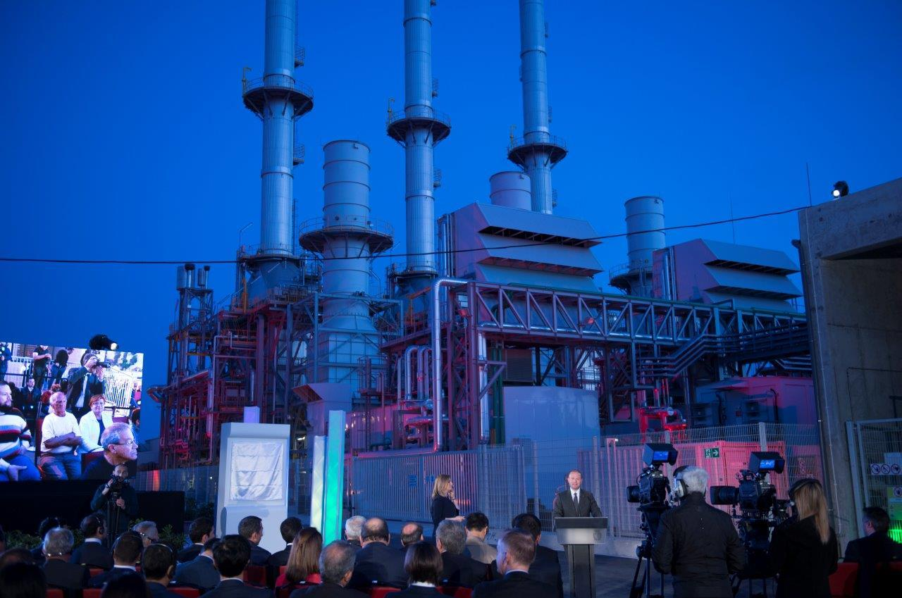 Joseph Muscat officially opens the power station in 2017.