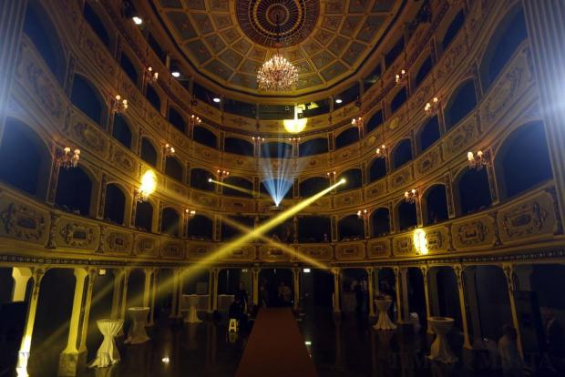 The Manoel Theatre in Valletta is prepared for the Pink Fashion Show on November 15. Photo: Darrin Zammit Lupi