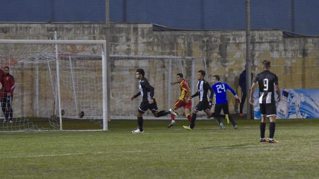 L-Isla's winning goal. Photo: Mark Zammit Cordina
