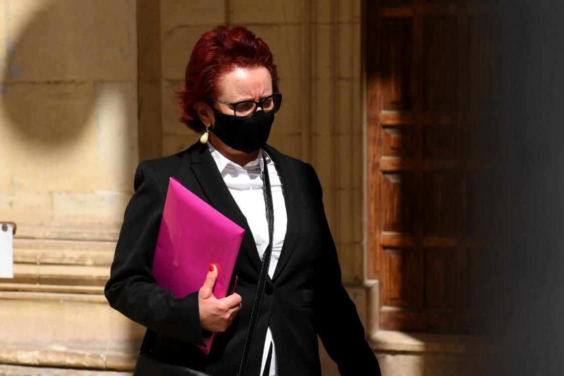 Mary Rose Chircop leaves court after testifying in her husband's murder case. Photo: Chris Sant Fournier