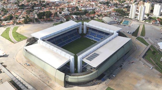 The Arena Pantanal stadium in Cuiaba. Photo: Joel Marcos/Reuters