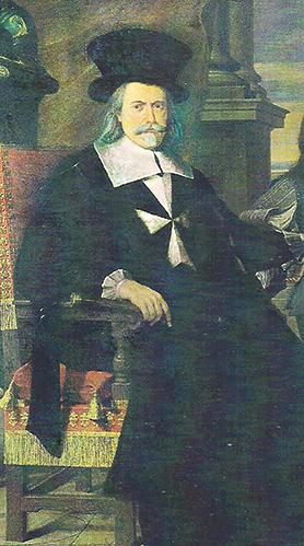 Grand Master Nicholas Cotoner (detail from a portrait at the Palace, Valletta).