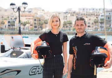 Alina Anisimova and Aaron Ciantar.