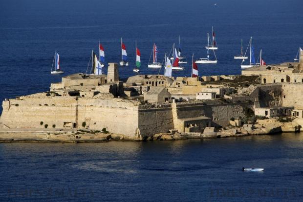Yachts sail offshore while waiting to participate in the Valletta Pageant of the Seas in Grand Harbour on June 7. The event was part of the Valletta 2018 festivities to mark the 450th anniversary since Valletta's foundation. Photo: Darrin Zammit Lupi