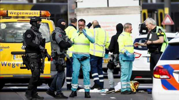 First responders at the scene of the shooting. (AFP)