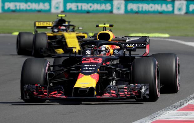Red Bull's Max Verstappen during practice.