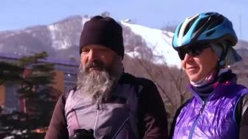 Swiss couple cycle 10,000 miles to see son compete