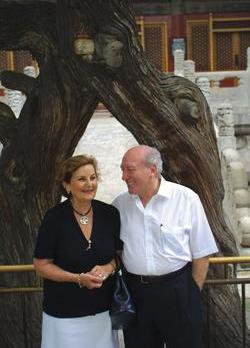 Guido de Marco with his wife Violet in Beijing, China in 2001. Photo: Darrin Zammit Lupi