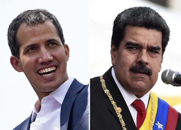 Venezuelan opposition leader Juan Guaido (L) and President Nicolas Maduro. Photo: AFP