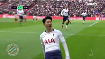 Watch: Spurs strike late again to climb above City