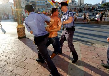 'Swearing, shirtless' man allegedly punched policeman at St Julian's feast