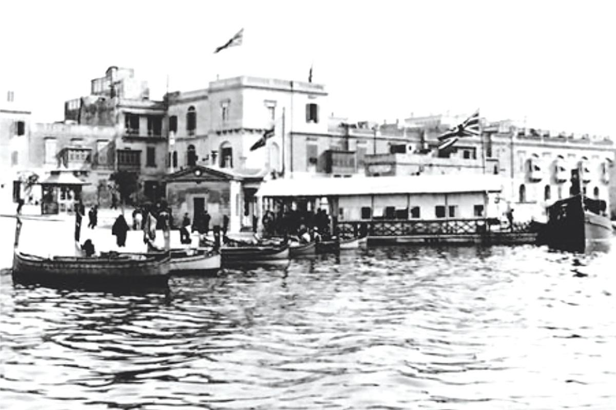 The National Steam Ferry Boat Company landing stage at Sliema.