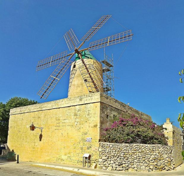 Ta' Kola Windmill in Xagħra. Photo: Heritage Malta