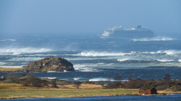 The cruise liner sent out a distress call following engine trouble in poor weather. Photo: AFP