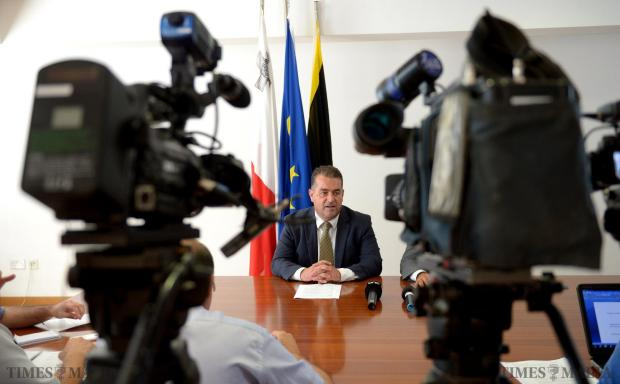 PN deputy leader Beppe Fenech Adami speaks during a press conference at PN Headquarters on July 30. Photo: Matthew Mirabelli