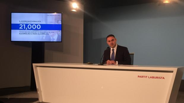 Owen Bonnici at this morning's press conference. Photo: Claire Caruana