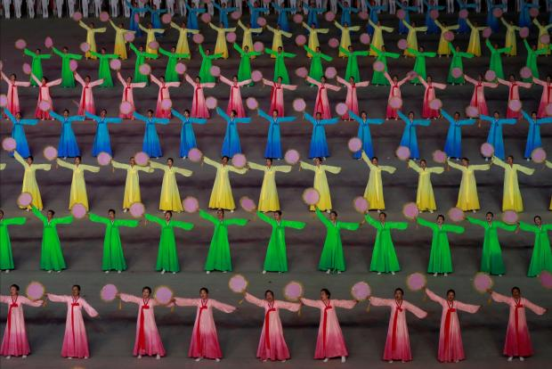 Participants perform at Mass Games in May Day stadium marking the 70th anniversary of North Korea's foundation in Pyongyang. Photo: Danish Siddiqui/Reuters