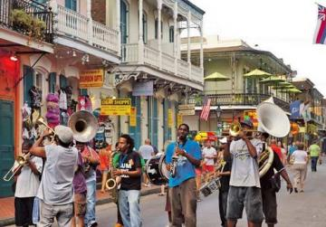 There's always something happening on Bourbon Street.