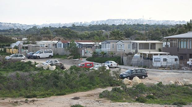 Some of the 'mobile homes' placed at the Malta Campsite in Armier which prompted the Planning Authority to issue an enforcement notice. Photo: Matthew Mirabelli