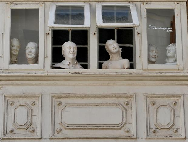 Statues watch the comings and goings from a balcony in Valletta on August 30. Photo: Chris Sant Fournier