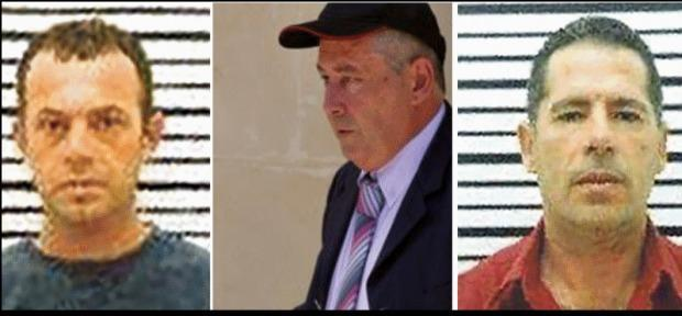 The suspects: Alfred Degiorgio (il-Fulu), his brother George (iċ-Ċiniz) and Vince Muscat (il-Koħħu).