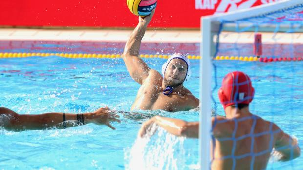 Dino Zammit of Malta in action against France in the European Championships. Photo: Christine Borg