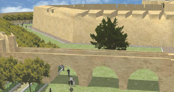 Artist's impression of how the project will look under Mdina main gate.