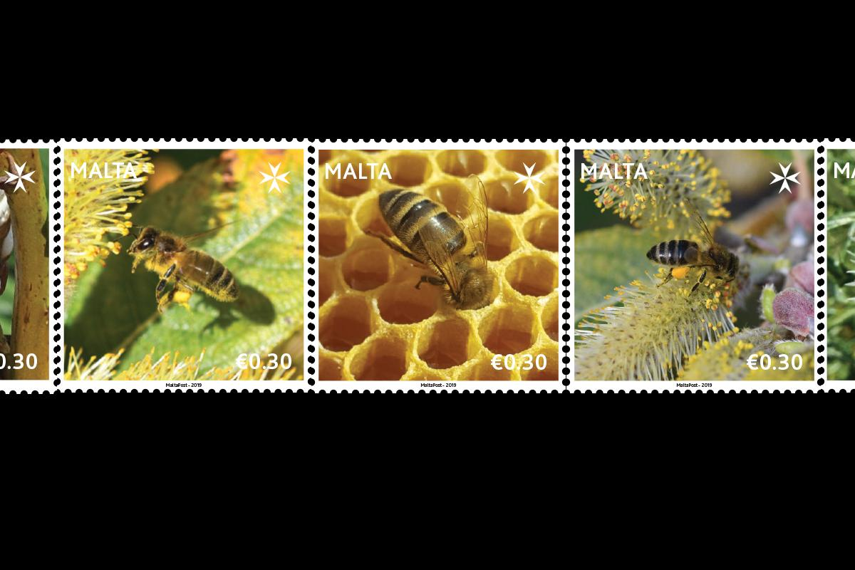One million stamps featuring Maltese bees go on sale next week