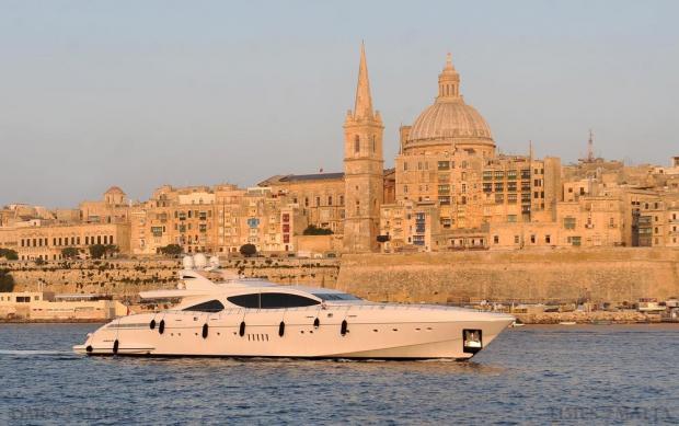 A super yacht cruises into Marsamxett Harbour on July 11. Photo: Chris Sant Fournier