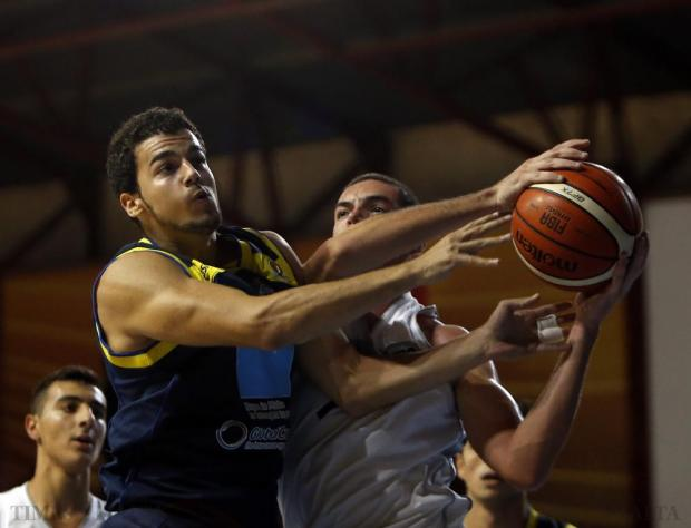 Action from the basketball match between Luxol and Depiro at the Ta' Qali Pavilion on October 18. Photo: Darrin Zammit Lupi