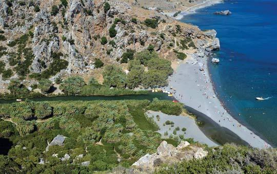 Preveli beach, one of two locations on the island of Crete where chiselled shards were found in 2008 and 2009. Photo: Louisa Gouliamaki/AFP