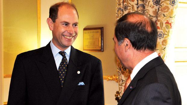 Prince Edward seen with President Abela at his last visit.