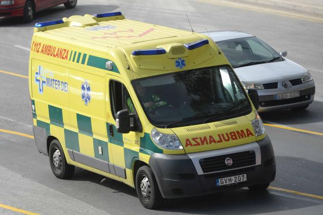 Żejtun man falls from height while doing maintenance work at home