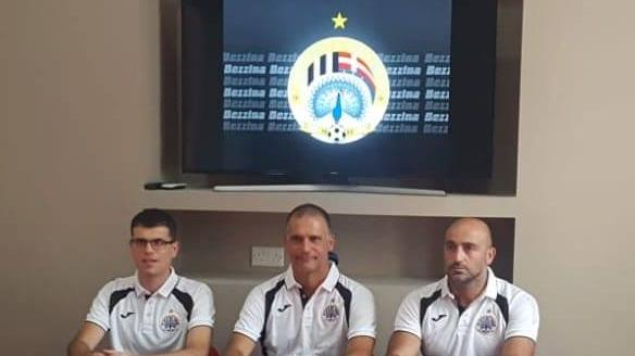 Stefano Sanderra (centre) will be Hibernians' coach during the 2018/2019 campaign. Photo: Hibernians FC