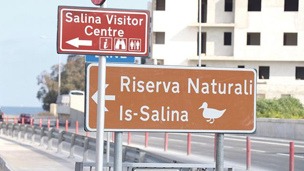 The road signage leading to all the BirdLife Malta reserves have been improved. Photo: Nathaniel Attard