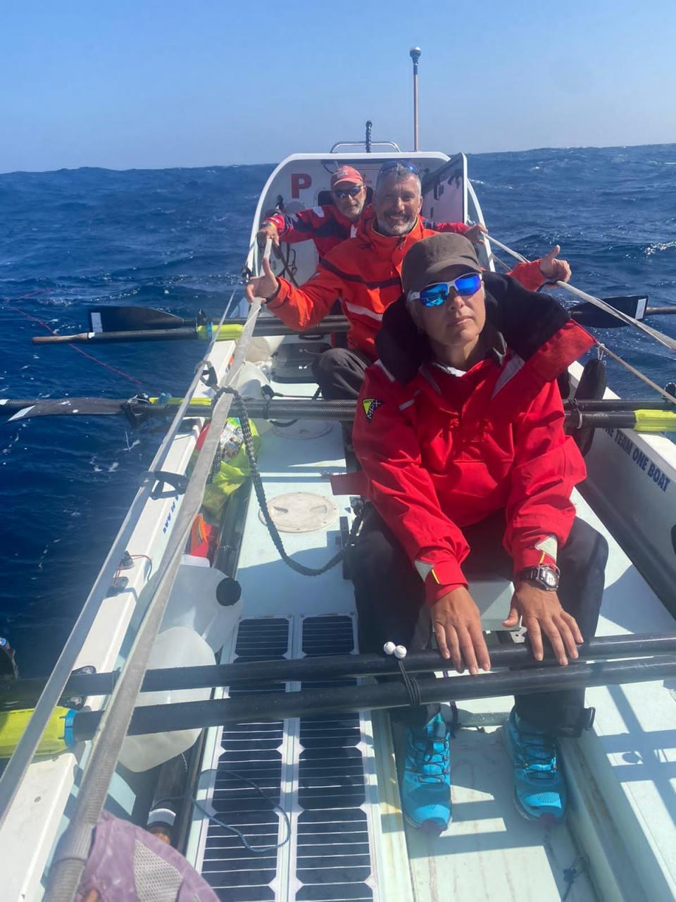 The crew have been at sea for a month.