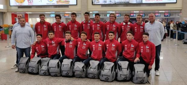 The Malta U-17 waterpolo national team.